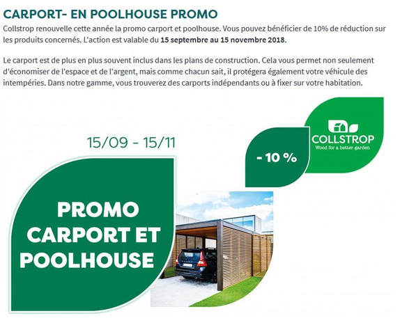 Promotion carports poolhouse collstrop - woodexpo 78